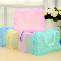 Wholesale Wholesale Cube Bags - 5pcs lot High Quality PVC Travel Bag Fashion Waterpoof Women's Handbag Cube Travel Bag Durable Of Unisex Clothing Sorting Organize bag