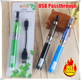 Wholesale Ego Pass Through Ce4 - 2017 hottest selling ce4 tank cartomizer Electronic Cigarette Blister kits ego starter kit e cig 650mah UGO mirco usb pass through cigarette