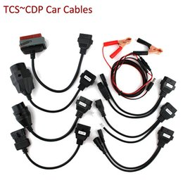 Wholesale New Tcs Cdp Pro Plus - Free shipping New TCS Diagnostic tool full set car cables for TCS CDP PRO PLUS 8pcs Car cables OBD2 Car Adapters