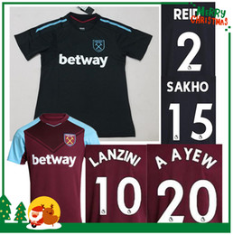 Wholesale West Home - Thai quality 17 18 West Ham United away soccer jerseys 2017 2018 FEGHOULI CARROLL SAKHO AYEW West Ham United home football shirts