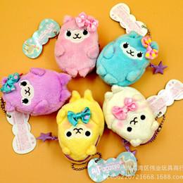 Wholesale Alpaca Bag - Wholesale- 2PC Soft Plush Alpacasso Arpakasso Alpaca Toy Coin Bag Wallet Purse Pouch Bag Charms 7x5cm L501