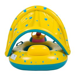 Wholesale Toy Boat Bath Water - Portable Summer Baby Kids Safety Swimming Ring Inflatable Swan Swim Float Water Fun Pool Toys Swim Ring Seat Boat Water Sport 2110113