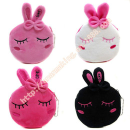 Wholesale High Quality Promotional Gifts - Wholesale- Factory direct wallet cartoon rabbit high quality plush coin purse activity promotional gifts for children girls