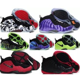 Wholesale Pearl White Fabric - Air Sport Sneakers mens Penny Hardaway purple basketball shoes athletics shoes men Pearl Penny Hardaway Shoes