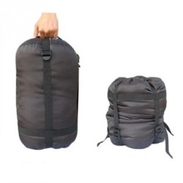 Wholesale Compression Bag Camping - Wholesale- Super quality Portable Lightweight Compression Stuff Sack Bag Outdoor Camping Sleeping L Size Camping Equipment