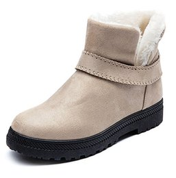 Wholesale Leather Shorts 44 - New women cotton boots female autumn and winter snow boots women flat short boots foreign trade big size 35-44 .XDX-031
