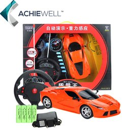 Wholesale Children Steering Wheel - Wholesale- Brand 1 16 Gravity Sensor Steering Wheel Remote Control Car Simulation RC Car Model For Children Gift Toys