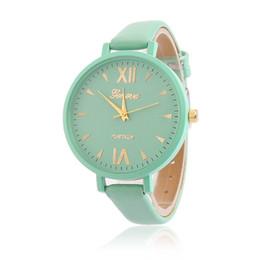 Wholesale Fine Leather Belts - 2016 New Style Luxury Men Women Geneva Quartz Wrist Watch Loves Belt Fine Business Watch Lady Strap Quartz Fashion Wristwatches