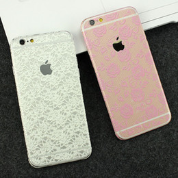 Wholesale Phone Sticker Pattern - Flower pattern For iphone 6 lace sticker Full Body lace Film 6 6s 6 6S plus phone lace sticker