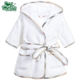 Wholesale White Terry Towels - Children pajamas Robe new boys girls bathrobes children baby pajamas Home Wear Baby Bathrobe Cartoon infant bath towel