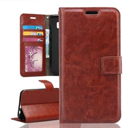Wholesale Photo Playing Cards - Retro Leather Stand Wallet Flip Case Card Holder Photo Frame Slot For Motorola Moto Z G4 Plus X Play G5 SONY XA1 XZ Premium XZs