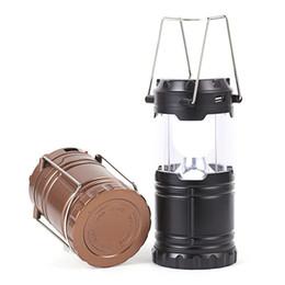 luces de emergencia vintage Rebajas 3 colores al aire libre a prueba de agua portátil que acampa solar LED lámpara recargable de la linterna que camina luz ahorro de energía ajustable envío libre