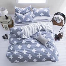 Wholesale Dark Duvet - Wholesale-New Fashion Bedding Set 4pcs 3pcs Duvet Cover Sets Soft Polyester Bed Linen Flat Bed Sheet Set Pillowcase Home Textile Drop Ship
