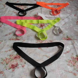 Wholesale Sexy Men C String - men's sexy c-ring cock ring strap push up pennis enchancer ball lifter g-strings thongs underwear