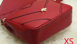 Wholesale Wholesalers Designer Wine - wine red elegant women lady designer bags rivet fashion shoulder bags with gold chain