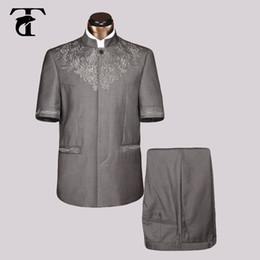 Wholesale Men Short Sleeve Blazer - Short Sleeve Men Suit Blazer Jacket Wholesale Clothing Blazer 2017 Summer Men Fashion New Casual Blazer Safari Suit