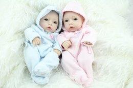 Wholesale Handmade Gifts For Newborn Babies - 10 Inch Mini Reborn Babies Fashion Doll Handmade Newborn Baby Toys Realistic Finished Doll For Kids Birthday Xmas Gift For Christmas free DH