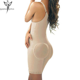 Wholesale Slimming Bodysuits - Wholesale- Slimming Shaper fitness full body corsets women Control Pant fajas bodysuit cinta Belt Belly Back Waist trainer Corset Bustiers