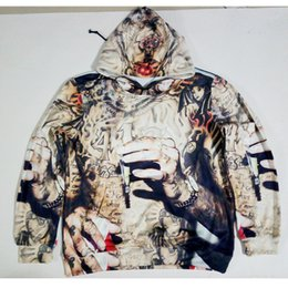 Wholesale Sublimation Clothes - Wholesale- Real American size wiz khalifa tatted 3D Sublimation Print OEM Hoody Hoodie Custom made Clothing plus size