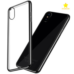 Wholesale Iphone Cases Gel Crystal - For Iphone 8 Plus iPhone X 7 6 Plus Samsung S8 S8 plus S7 Crystal Gel Case Ultra-Thin transparent Soft TPU Cases