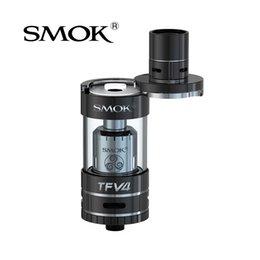 Wholesale Spray Electronic Cigarette - Wholesale-Original SMOK TFV4 Atomizer Electronic Cigarette Vape SMOK TFV4 Atomizer Sub Ohm Tank for 40w-140w Vaporizer E-cigarette Spray