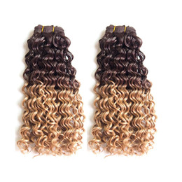 Wholesale Deep Wave Perm - Hair Products 14-18 Inch Deep Curly Hair Extension Deep Wave Hair 2Pcs Lot 100g pc Bundles Tangle-Free No Shedding