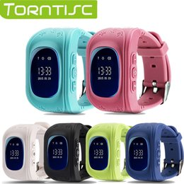 Wholesale Gps Tracker Micro - Wholesale- Torntisc Q50 Kid Safe GPS Smart Watch Locator Tracker Anti Lost Monitor Lovely Wristwatch Support Micro SIM card for Children
