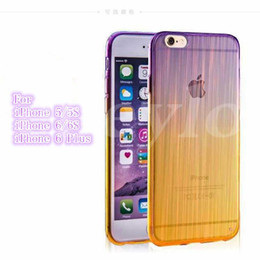 Wholesale Iphone 5s Cases Draw - Colorful Case New Design Wire Drawing Soft TPU High Quality For iPhone 5 5S iPhone 6 plus 6S plus