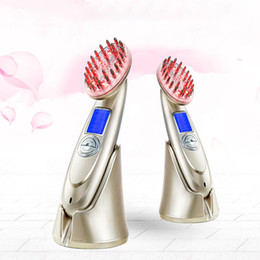 Wholesale New Hair Laser Comb - New micro-current vibrant cosmetic laser comb Laser Hair Regrowth Comb RF3 regulate personal care Beauty Instrument laser Beauty Instrument