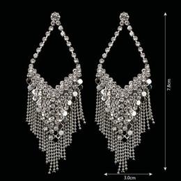 Wholesale Channel Flower - Brand Design New Fashion Popular Luxury Crystal drop Earrings Elegant Channel earrings jewelry for women #E311