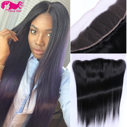 Wholesale French Ears - Favor 7A Brazilian Lace Frontal Frontal Virgin Human Hair 13x4 Lace Frontals With Baby Hair Ear To Ear Lace Frontal Natural Color