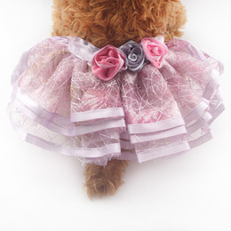 Wholesale Dog Dresses Tutu - armipet Roses Decorated Dog TUTU Skirt Princess Skirts For Dogs 6071063 Pet Clothes Supplies XS S M L XL