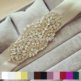 Wholesale Bridal Wedding Belts - Wholesale- Hot sale Fashion Luxury crystal Rhinestone Flower Wedding Belt Sparkly Handmade Stunning Bridal sash belt Evening dress belt