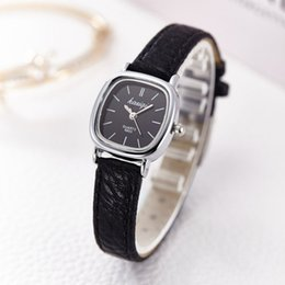 Wholesale Lady Girl Wrist Watch - Wholesale- New Female Leather Watches Women Fashion Bracelet Watch Geneva Ladies Women Girl Silver Casual Quartz Wrist Watch Reloj Mujer
