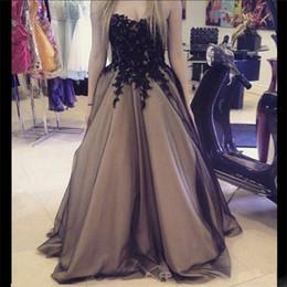 Wholesale Vestidos Noche Cheap - Elegant Long Dress Black Vestidos Largos De Noche 2017 Sweetheart Lace Appliques Cheap Evening Dresses Made in China