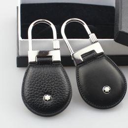 Canada Luxe hommes bijoux en acier inoxydable en cuir véritable design de mode porte-clés top qualité porte-clés pour hommes hommes cadeau avec boîte Offre