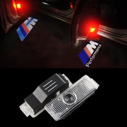 Wholesale Car Bmw X6 - Car door lights For BMW Ghost Shadow Logo Led Laser Projector welcome lamp E60 E63 E90 E93 X1 X3 X5 X6 M3 M5