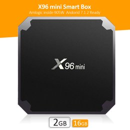 Wholesale Mini Tv Box Skype - KD 17.6 X96 Mini Amlogic S905W Android 7.1 TV BOX 2GB 16GB Quad Core HD 4K WiFi Smart Streaming Media Player Better S905X S905X S912 T95Z