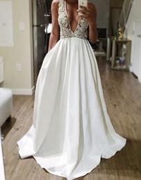 белый пром вечернее платье быстрая доставка плюс размер 2016 сексуальная длинные глубокий v шеи кружева вечерние платья вечерние платья от