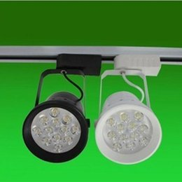 Wholesale 12w Led Track Light - Clothing Store LED Track Lights 12W 85-265V LED Spot Lighting Warm White White Light Color High Quality Track Lighting