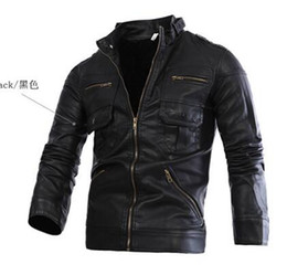 Wholesale Dong Man - Men qiu dong han edition collar zipper high quality leisure fashion personality trend the new locomotive leather coat   M-2XL
