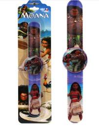 Wholesale Clap Digital - New 10 pcs Popular Cartoon Moana Children Cartoon Clap watch Digital watches For Best Gift P--1
