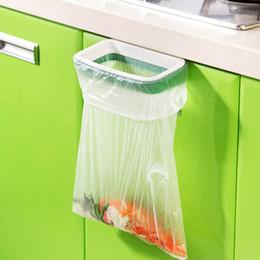 Canada Porte arrière de placard porte-déchets de stockage support de sac à ordures suspendu armoires de cuisine suspendu panier de déchets 12.5 * 22 cm Offre