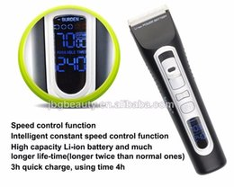 Wholesale Rechargeable Led Displays - 2017 LED Display Fast Rechargeable Mens Hair Trimmer Beard Clipper Excellent Quality Professional Ceramic Hair Cutter