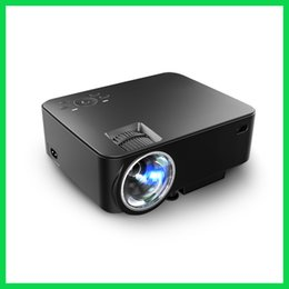 Wholesale Cheap Vga Projectors - Wholesale-1080p Full HD Projector Cheap Digital Video Beamer 1000 Lumens Multiple Languages with HDMI VGA AV Earphone For Free Shipping