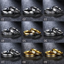 Wholesale Wedding Bangs - mixed order 16 models Fashion Wedding Engagement Rings 18K Yellow White Gold Plated Couple's Rings Lovers' Bang Rings #FR166