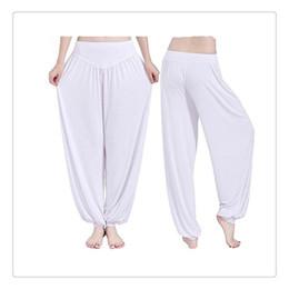 Wholesale yoga harem - Outdoor Yoga Pants Women Lady Harem Yoga Cotton Comfy Long Pants Belly Dance Boho Wide Trousers Free Shipping Yoga Pants For Women Ladies
