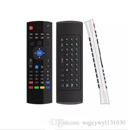 Wholesale Google Tv Mouse - MX3 fly air mouse 2.4GHz wireless android tv boxes keyboards X8 air mouse remote 3d somatosensory IR learning 6 axis mini keyboard