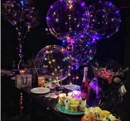 Wholesale Bubble Toys For Children - led bobo ball string lights balloons lighted colored light for Christmas Halloween Wedding Party children toy home Decoration lights balloon