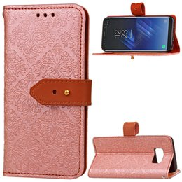 Wholesale Iphone Real Leather Pouch - Real Leather Case For Samsung S8 Plus S8 edge S7 edge A7 A5 A3 2017 iPhone 7 Soft TPU Wallet High Qaulity Cases